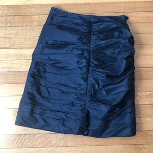 Rouched black skirt